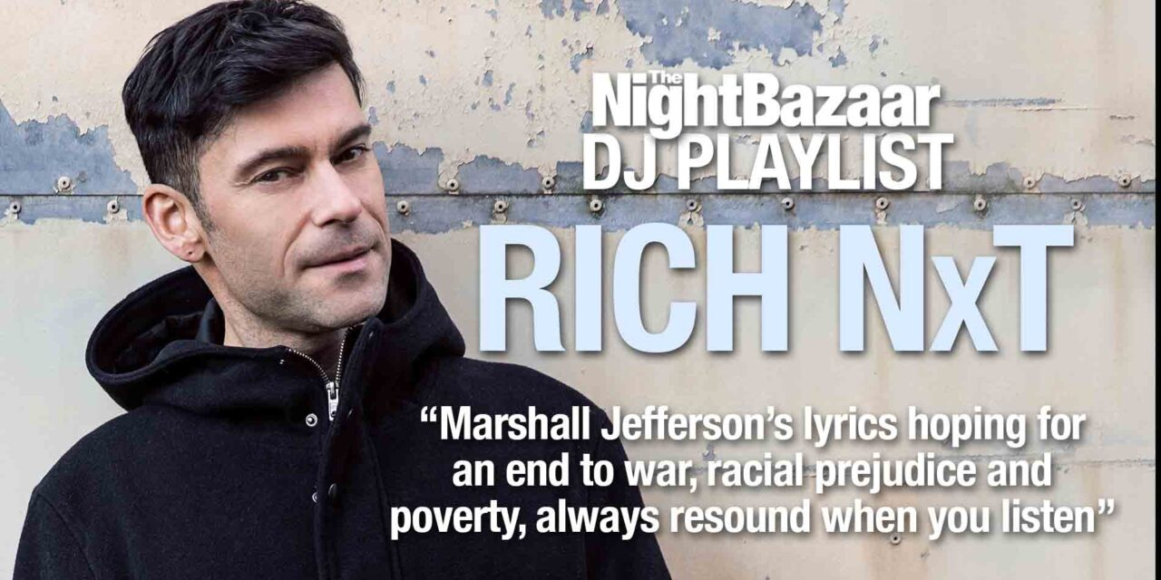 """<span class=""""entry-title-primary"""">Rich NxT: """"Marshall Jefferson's lyrics hoping for an end to war, prejudice and poverty, always resound when you listen""""</span> <span class=""""entry-subtitle"""">We caught up with the FUSE resident this week and asked him to compile and talk us through a playlist of inspirational music</span>"""