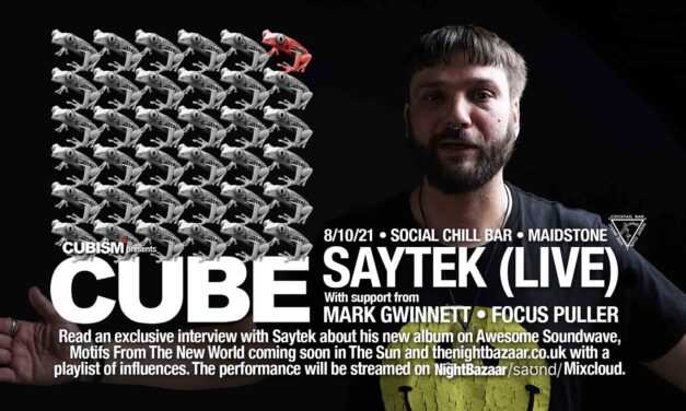 Saytek returns to Maidstone for a Cubism party at Social Chill Bar on Friday October 8th